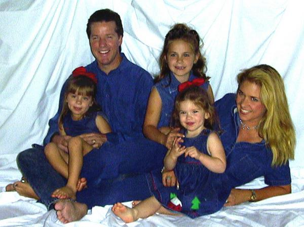 Jeff Dunham with ex-wife Paige Dunham and three daughters