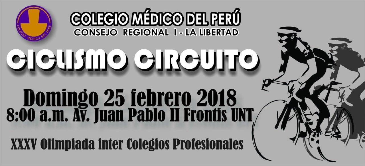 CICLISMO CIRCUITO - Dom. 25 de Febrero - 08:00am. Av. Juan Pablo II