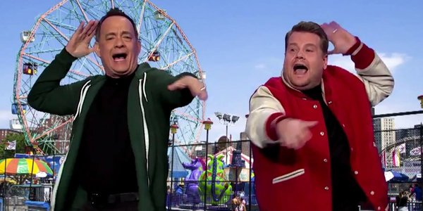 Tom Hanks Reenacts Every Single Movie He's Ever Done In James Corden's 'Late Late Show' Debut