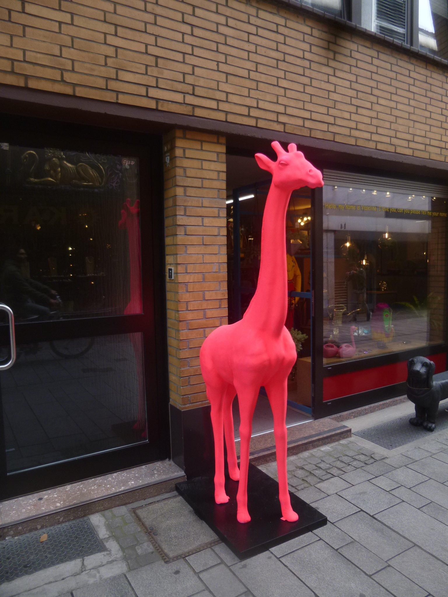 Giraffe - rosa