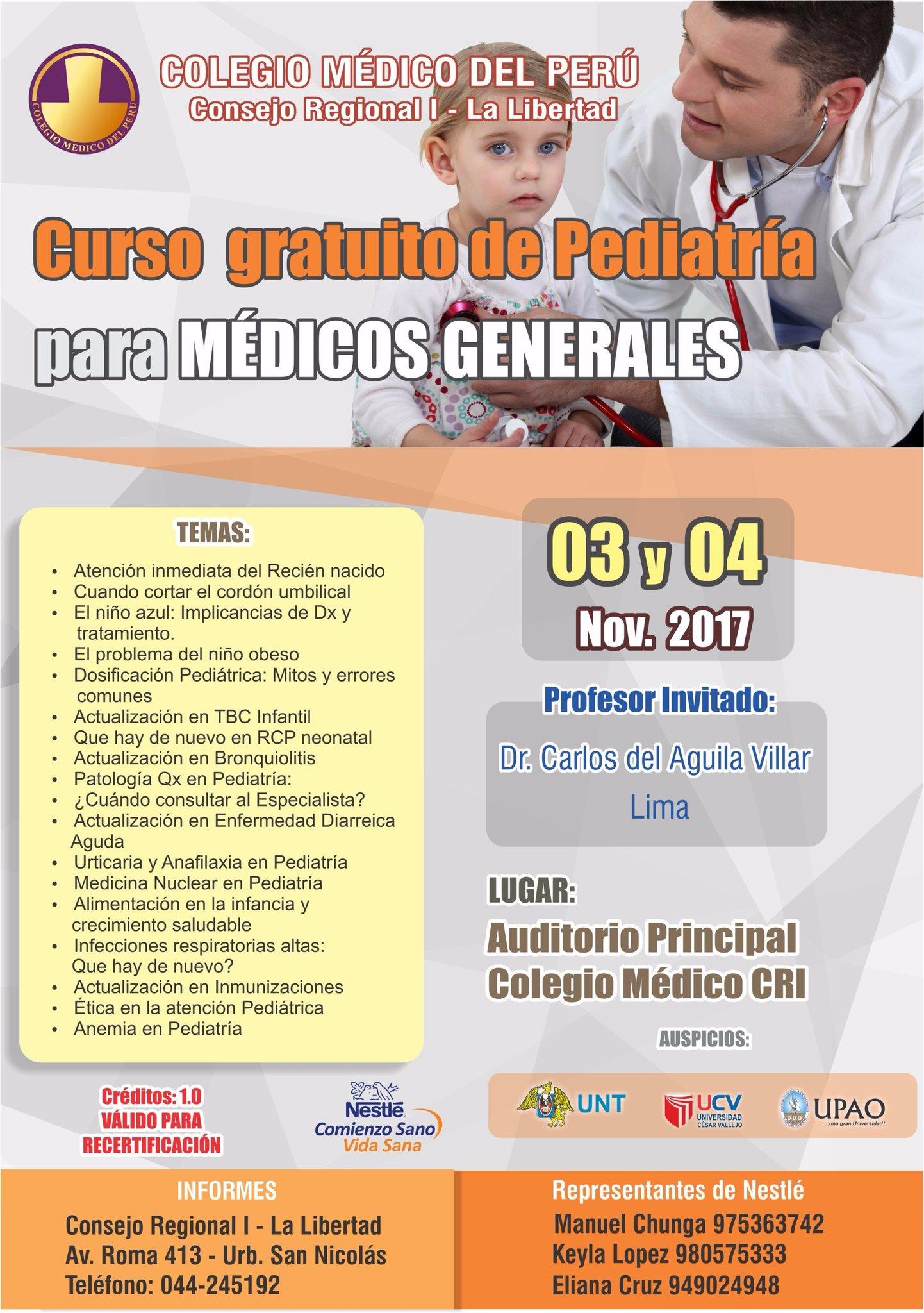 CURSO GRATUITO DE PEDIATRÍA PARA MÉDICOS GENERALES