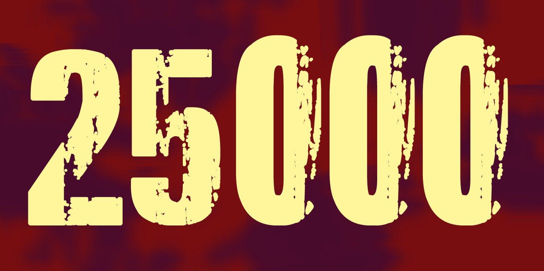25000.... Klicks