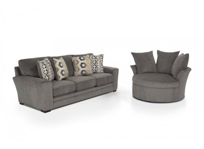 Bobs Discount Furniture   Jackson Sofa U0026 Swivel Chair This Trendy U0026  Transitional 2 Piece Set Is Sure To Be The Talk Of The Town With Its  Eye Catching Color ...