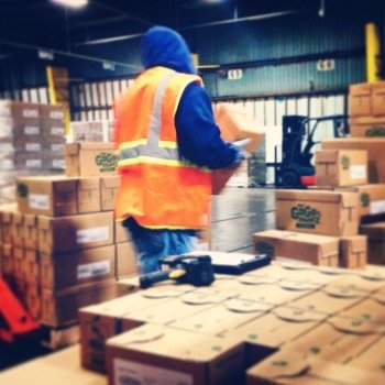 Pick and pack entails processing product, disassembling them, picking the relevant product for each destination and re-packaging with shipping label affixed and invoice included.