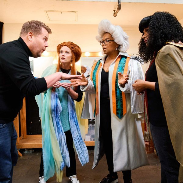 Oprah and the A Wrinkle in Time cast perform the film in 4D for James Corden